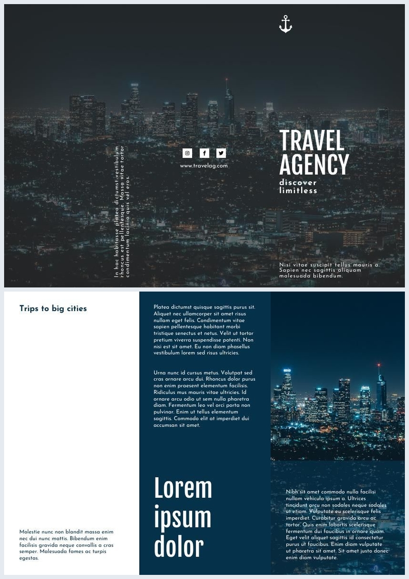 Travel Agency Trifold Brochure Template Amp Design Flipsnack