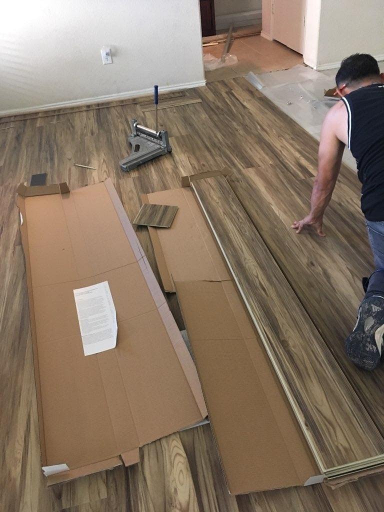 luxury vinyl tile in humble floor coverings international houston heights