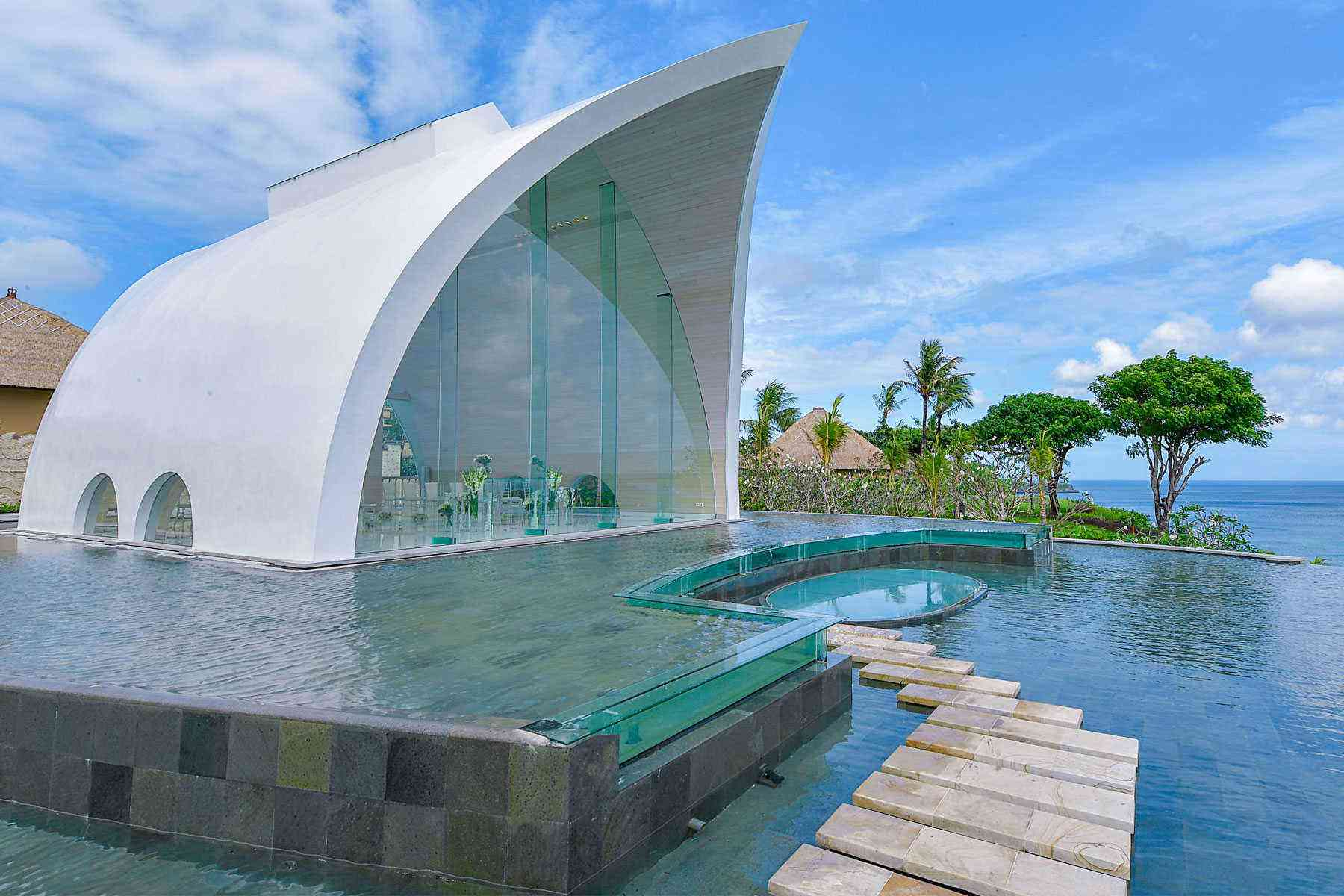 Look At This Insane Modern Wedding Chapel In Bali Fodors