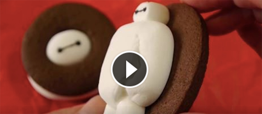 How To Make Big Hero 6 Baymax Marshmallow Cookies