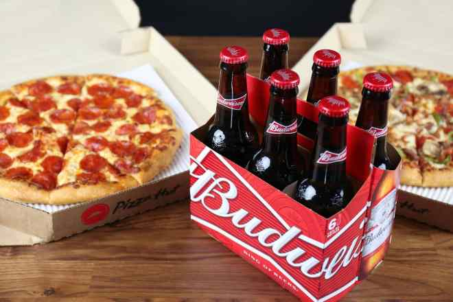 pizza hut alcohol delivery