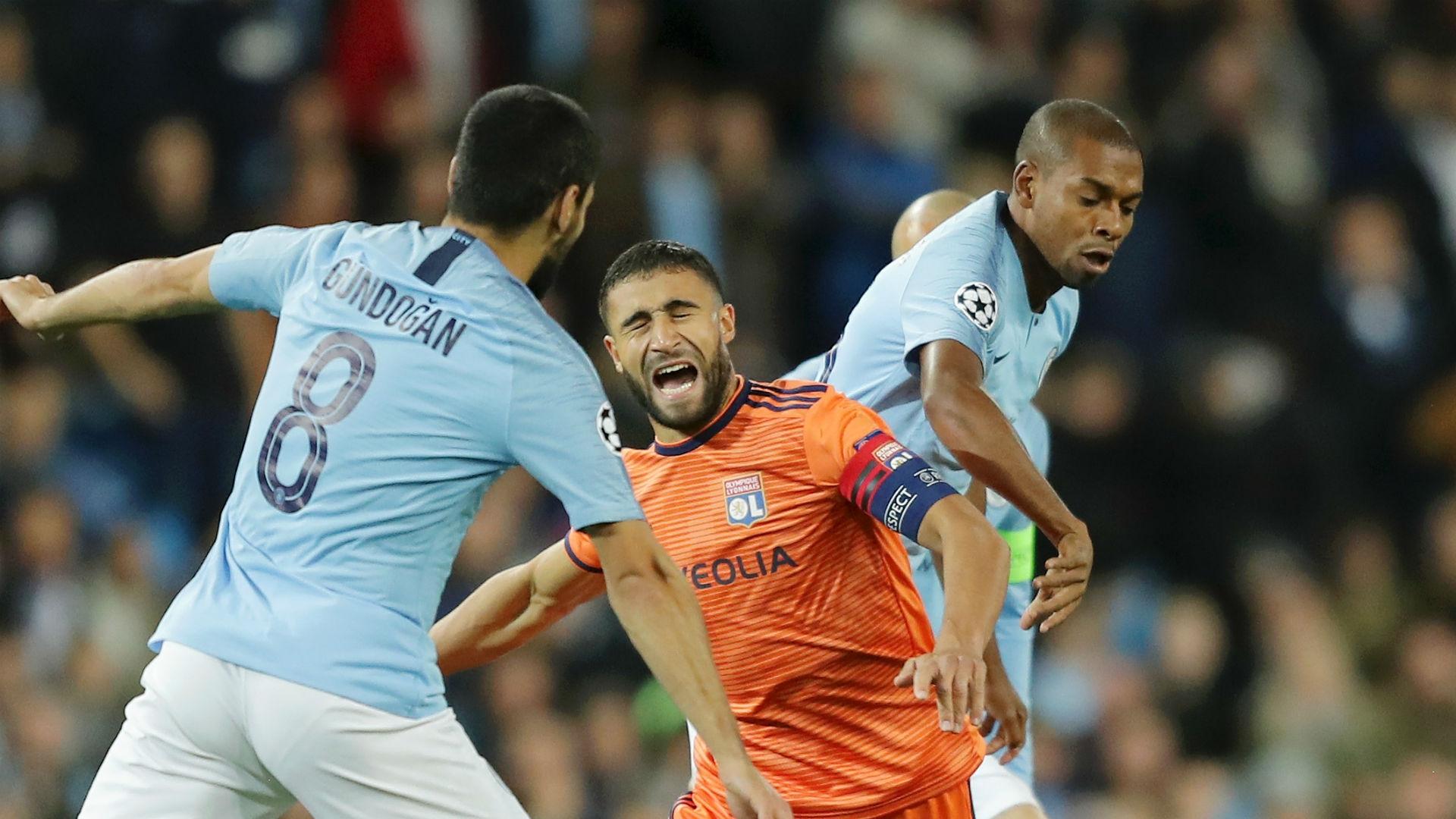 nabil fekir fernandinho - Manchester City vs. Lyon