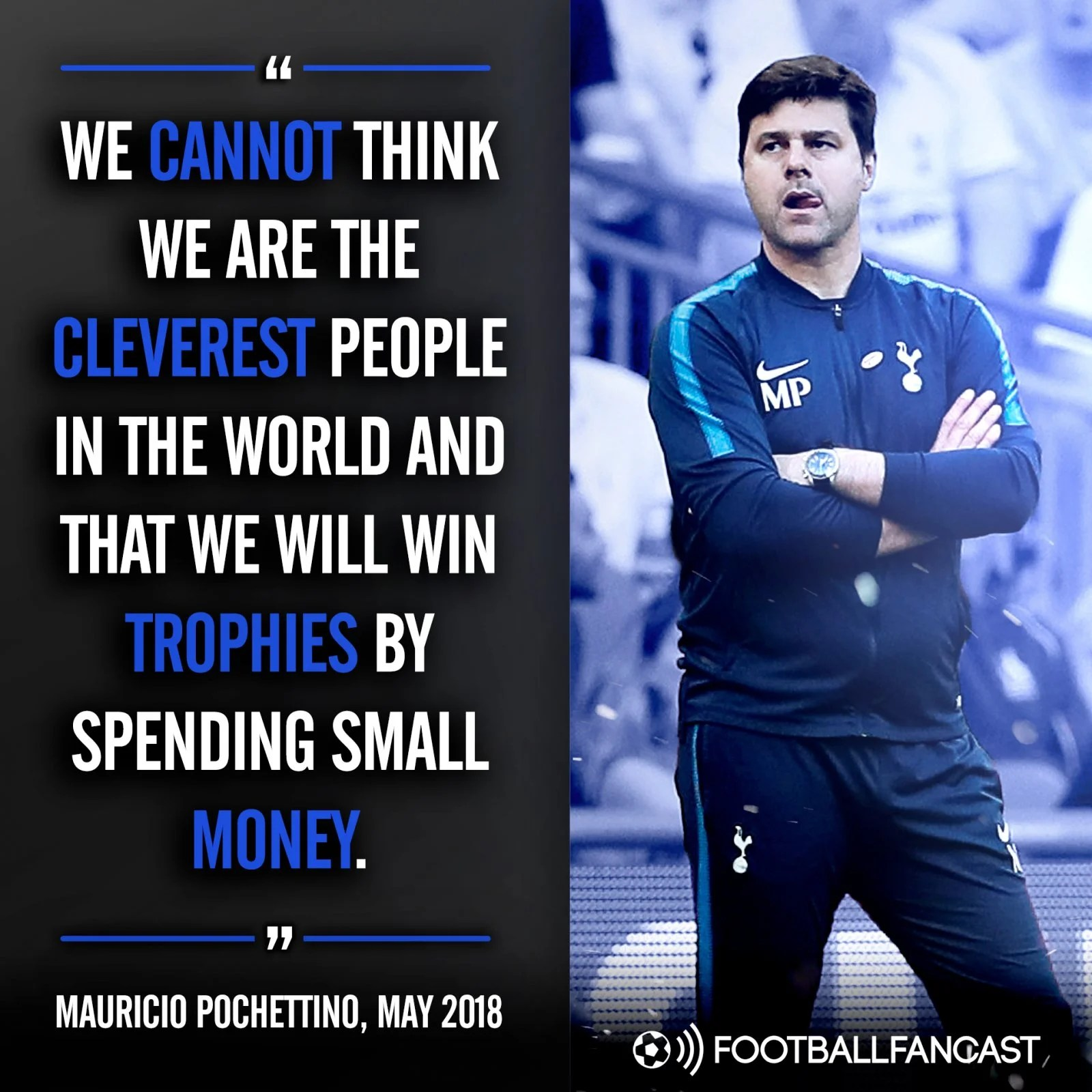 Mauricio Pochettino on Tottenham's spending habits