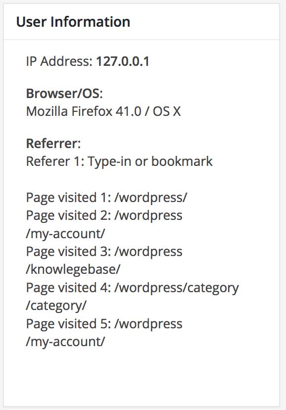 Pelacakan pengguna formulir WordPress