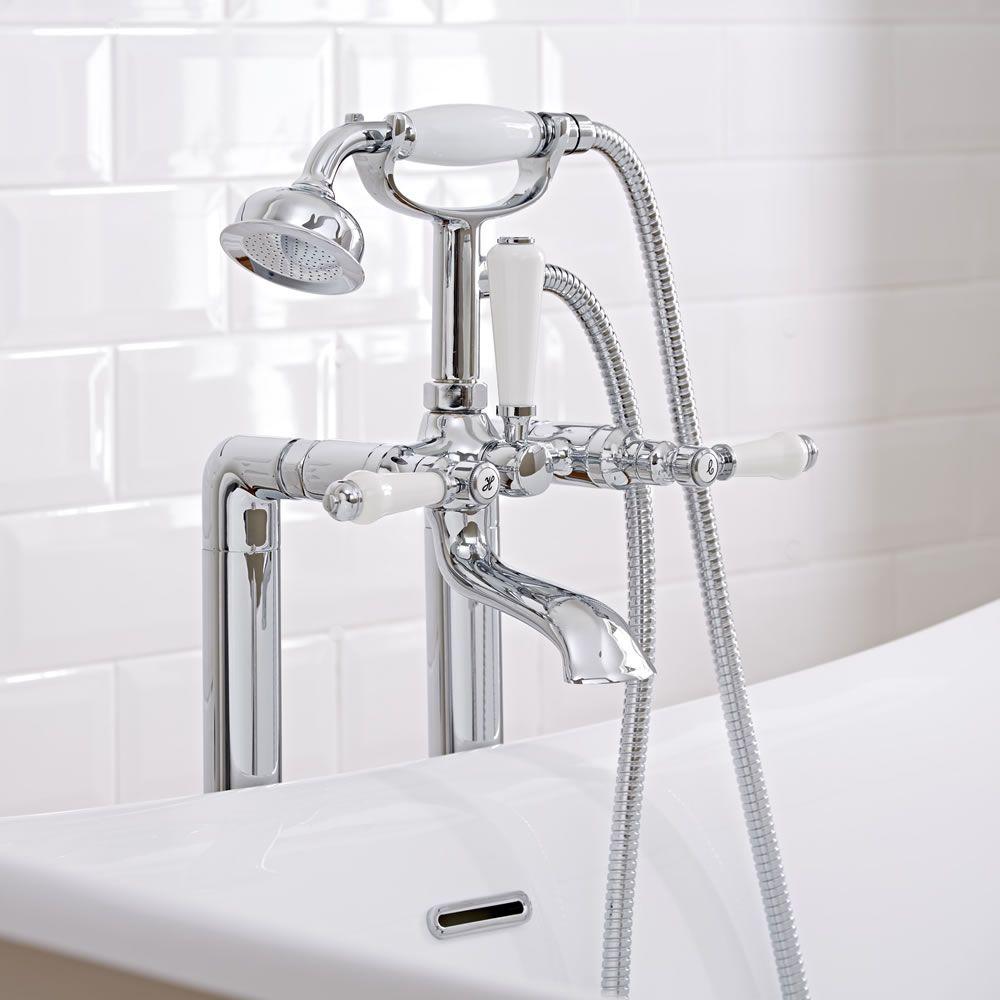 robinet bain douche retro en ilot