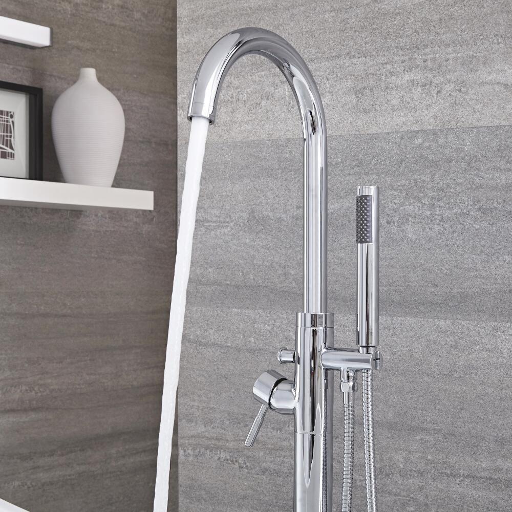mitigeur baignoire douche ilot avec douchette chrome como