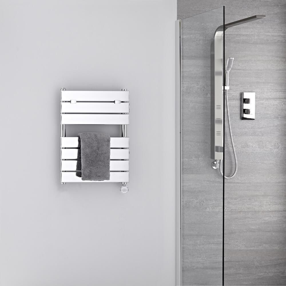seche serviettes electrique chrome 62 cm x 45 cm lustro