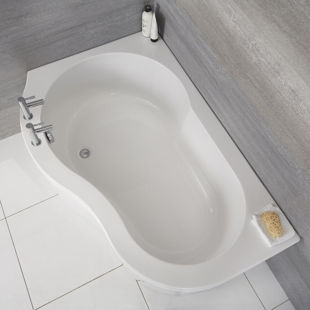 baignoire d angle gauche 150x100cm