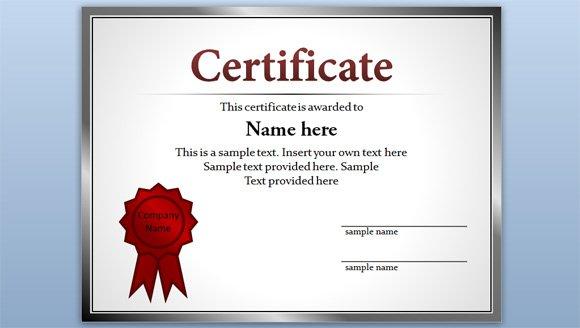 Microsoft Office Word 2010 Certificate Templates - Certificate