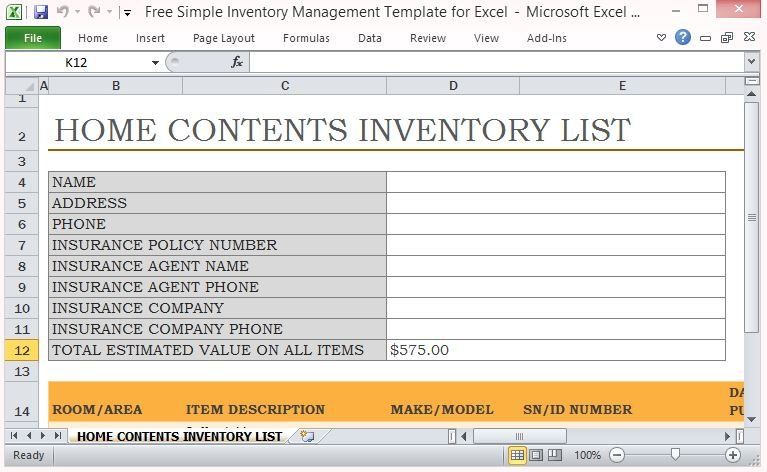 With an excel inventory template, like a fixed asset depreciation calculator, warehouse inventory list, physical inventory. Free Simple Inventory Management Template For Excel