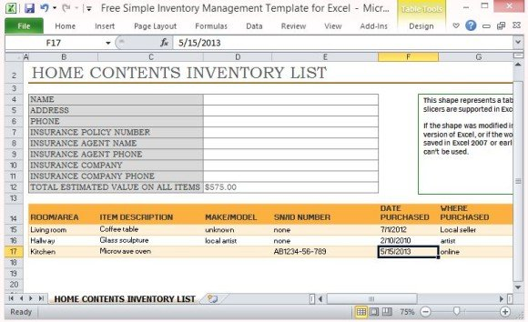With an excel inventory template, like a fixed asset depreciation calculator, warehouse inventory list, physical inventory count sheet, or home contents inventory list, you'll have greater control of your assets. Free Simple Inventory Management Template For Excel