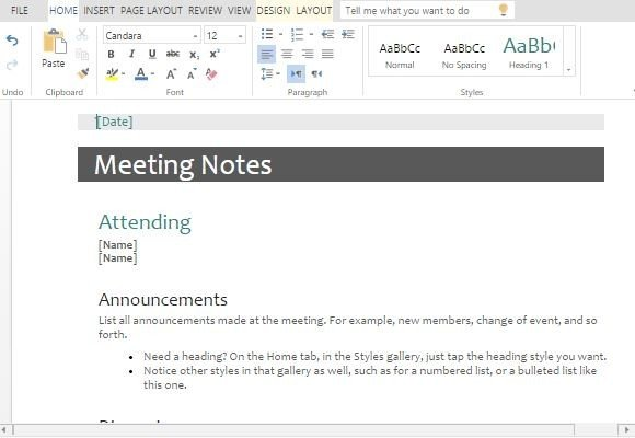 Is performance reported, measured, visually charted, and used to effectively drive improvement? Meeting Minutes Templates For Word