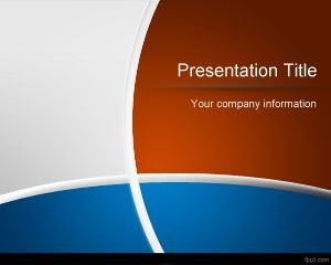 Free PowerPoint Templates Blue   Brown PowerPoint Template
