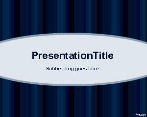 Free Dark Blue Physics PowerPoint Template