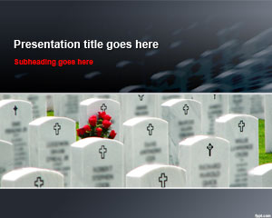 Free Cemetery Tombstones PowerPoint Template
