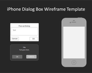 iPhone Dialog Box Wireframe PowerPoint Template   Free PowerPoint     02 iphone dialogbox wireframe template
