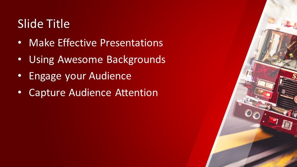 Free Fire Truck Powerpoint Template Free Powerpoint
