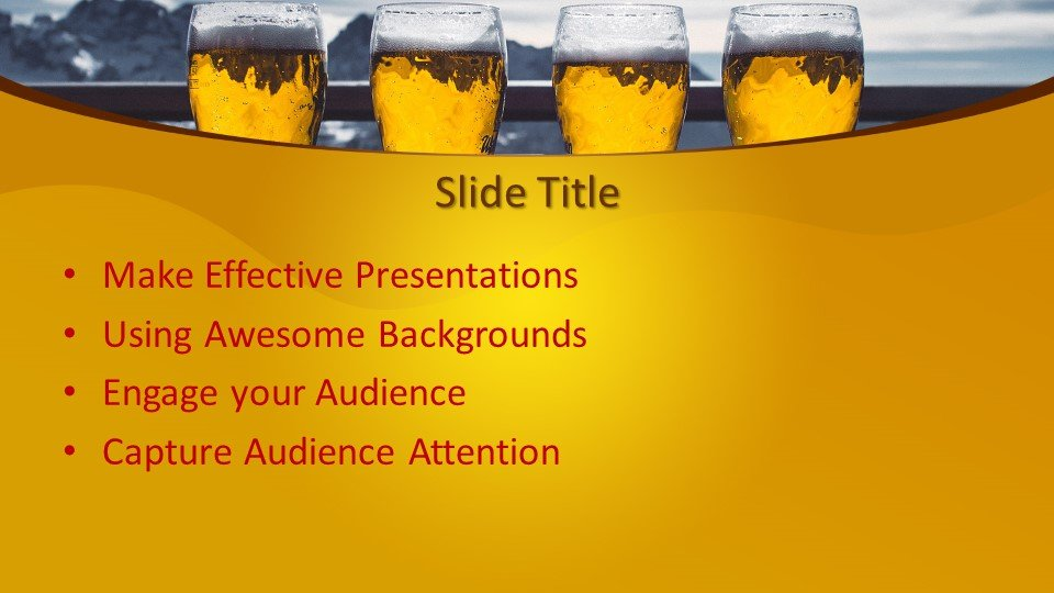 Free Beer PowerPoint Template Free PowerPoint Templates