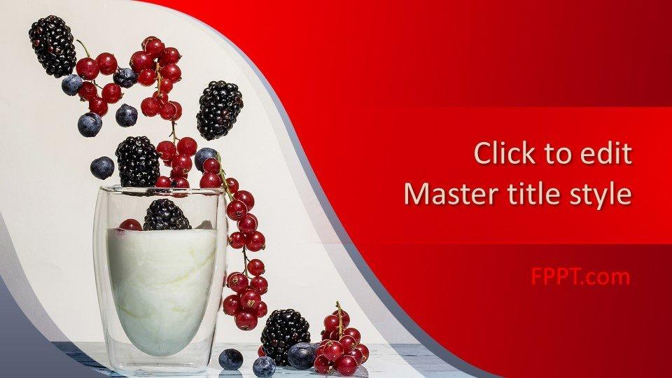 Free Nutritive Yogurt PowerPoint Template Free PowerPoint Templates