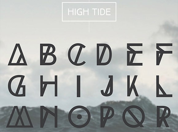 Image result for high tide font