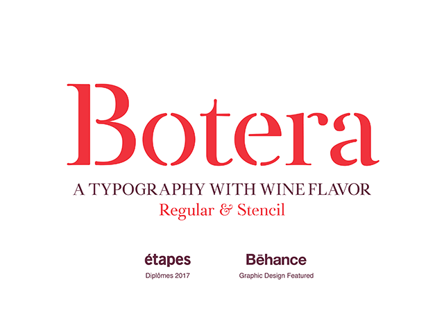 Botera: A free font with wine flavour