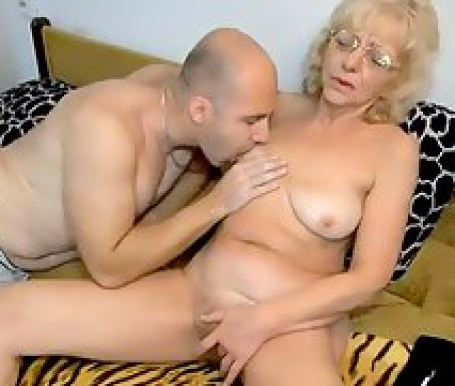 Blonde Grandma Does A  With Him