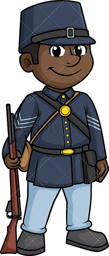 Civil War Union Army Soldier Cartoon Clipart Vector ...
