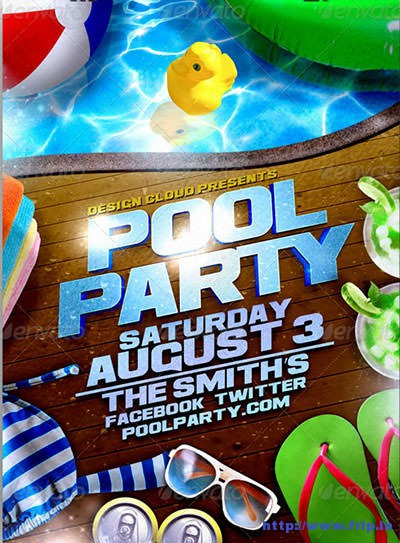 50 Best Summer Pool Party Flyer Print Templates 2017 Fripin