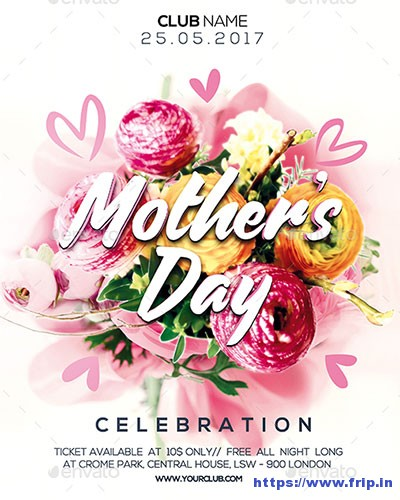 35 Best Mother's Day Flyer Print Templates 2019 | Frip.in