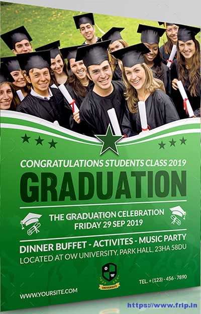 20 Best Graduation Party Flyer Print Templates 2017 Fripin