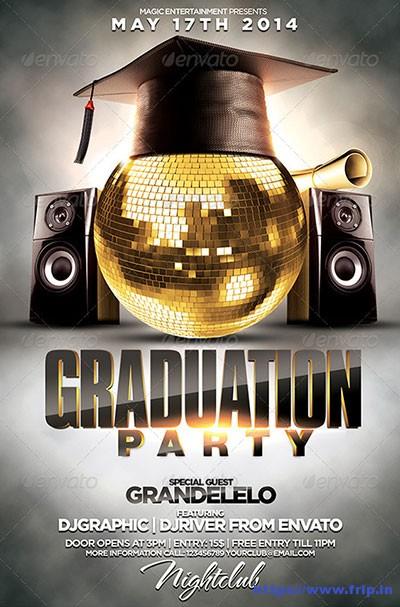 20 Best Graduation Party Flyer Print Templates 2017 Fripin