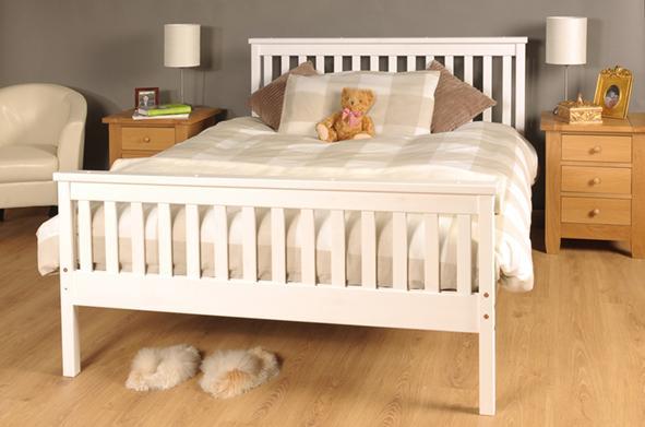 Atlantis Bed Chocolate White Pine 5ft King 4ft6 Double 3ft Single