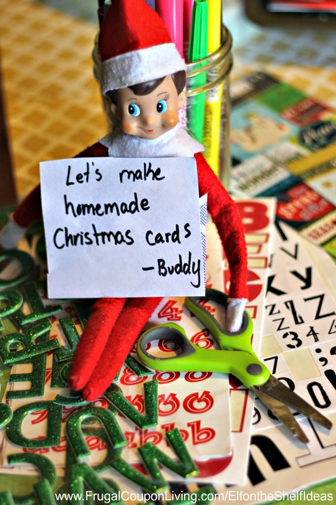 Elf On The Shelf Ideas Elf Makes Christmas Cards