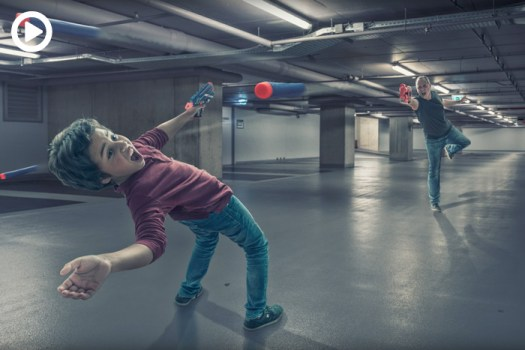 A Father and His Son Recreate 'The Matrix' Bullet Time Scene With the Help of Photoshop