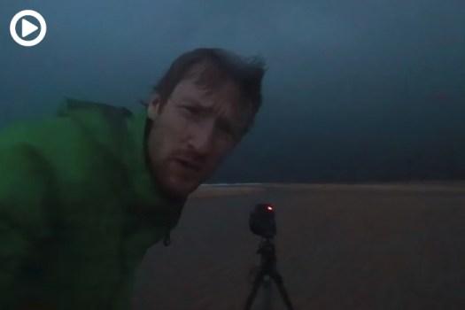 Photographer Terrified Shooting a Large Storm
