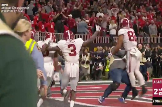 Photographer Knocked to the Ground After Running Onto Field Following Game-Winning Touchdown