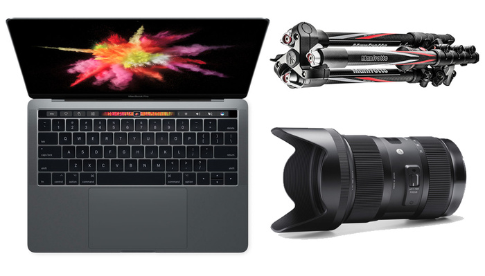 Get Great Deals on a MacBook Pro, Sigma Art Lens, and Carbon Fiber Tripod Today Only