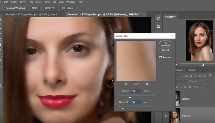 The Best Skin Softening Photoshop Action
