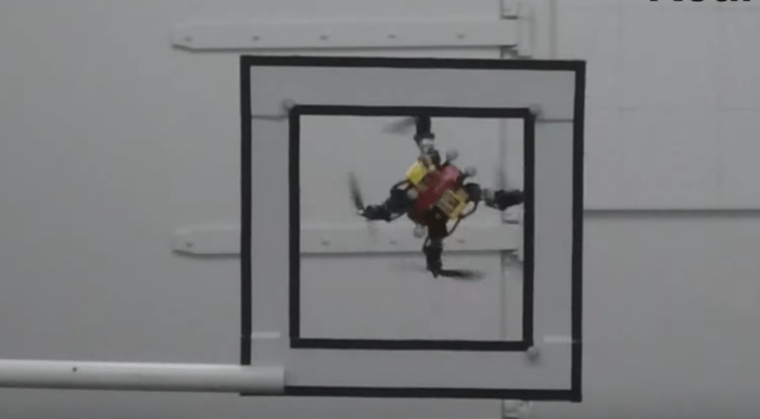 New Drone Prototype Compresses Itself to Squeeze Through Small Spaces Mid-Flight