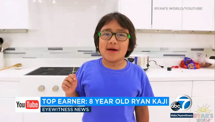 YouTube's Highest Earner This Year Was an Eight-Year-Old Who Raked in an Astounding $26 Million