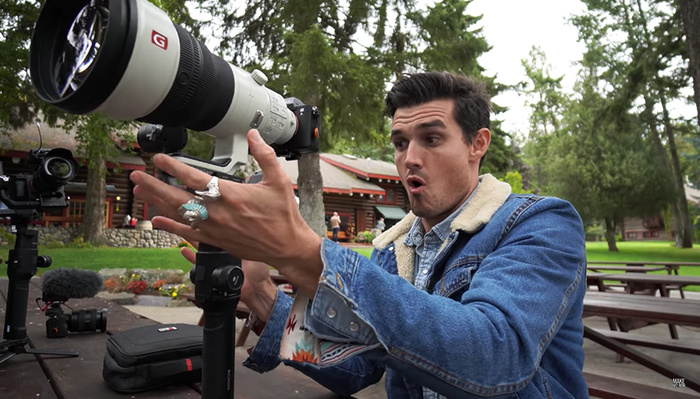 What Happens When You Put a Mega-Size Lens on a Gimbal and Shoot Video?