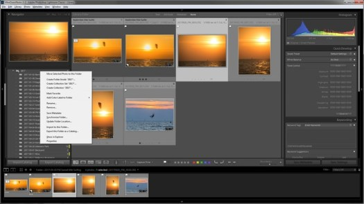 The Power of the Lightroom Folders Context Menu