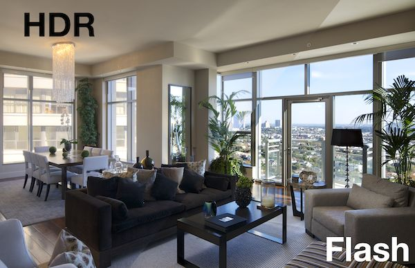 hdr vs flash for interiors and real