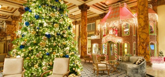 The Fairmonts 25 Foot Tall Gingerbread House Party SF