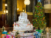 "12 ft. Tall ""Enchanted Sugar Castle"" Holiday Display, Coffee & Cookies 