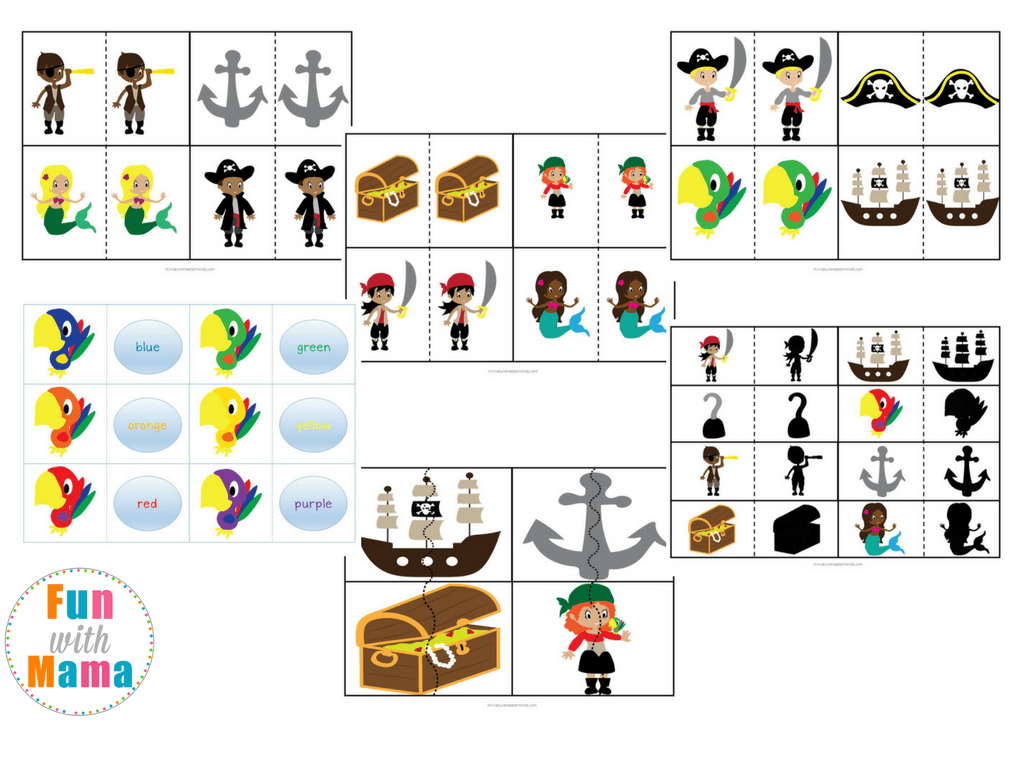 Pirate Theme Printable Preschool Pack
