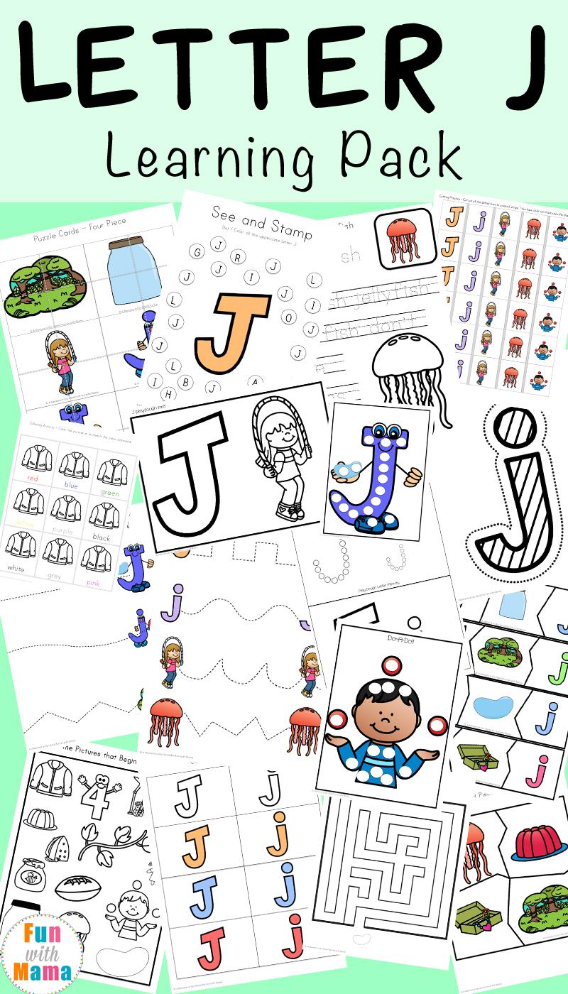 Letter J Ctivities Preschool K Derg Rten P Ck Fun With M M