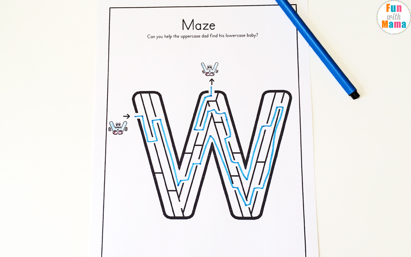Letter W Worksheets For Preschool Kindergarten