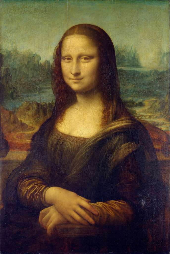 Portrait of Mona Lisa del Giocondo, the Mona Lisa, by Leonardo da Vinci (between 1503 and 1506? Uncertainty about the date of creation of the work).  Louvre Museum, Paris.  © Wikimedia Commons, public domain