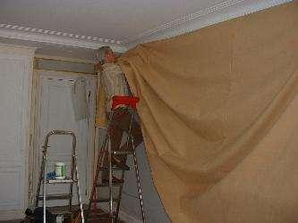 tenture murale et tissu tendu deux